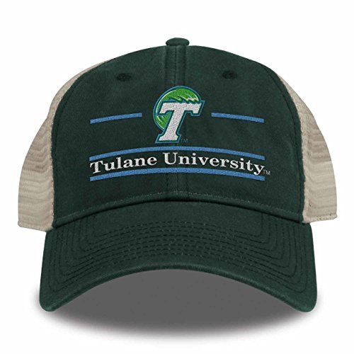 NCAA Tulane Green Wave Split Bar Design Trucker Mesh Hat d3ebb06d5bfa