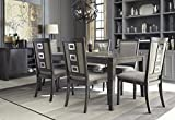 Chedoni Formal Wood Gray Color Dining Room Set: Rectangle Extension Table With 6 Chairs Review