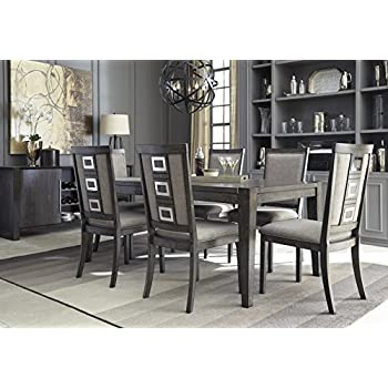 Wondrous Chedoni Formal Wood Gray Color Dining Room Set Rectangle Extension Table With 6 Chairs Home Interior And Landscaping Ferensignezvosmurscom