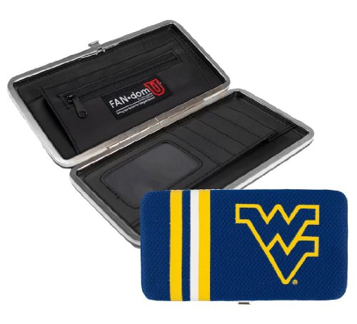 NCAA West Virginia Mountaineers Shell Mesh (Virginia Leather Checkbook Cover)