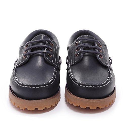 Con Hombre Color Zapatos Marino MARINO Piel C01104 Castellanísimos Cordones Náuticos wUg6ZXtZxq