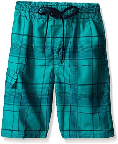 Kanu Surf Boys' Rogue Plaid Swim Trunk