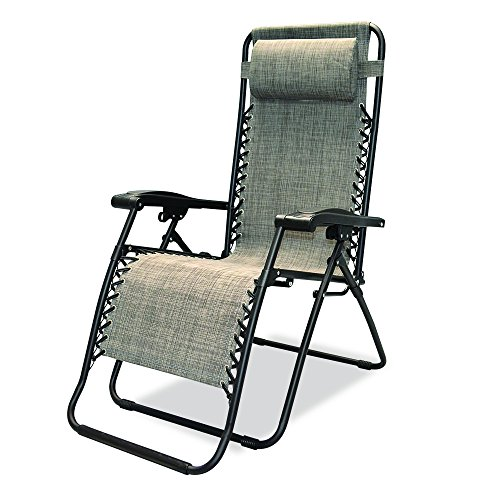 Caravan Sports Infinity Zero Gravity Chair, Grey (Dual Chaise Lounge)