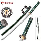 #8: Shinwa Genesis Handmade Tachi / Samurai Sword - Hand Forged Damascus Steel - Historical Katana Predecessor - Traditional Wooden Saya - Cleaning Kit - Functional, Battle Ready, Full Tang
