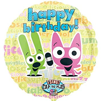 Mayflower Hoops And Yoyo Singing Happy Birthday 28quot Mylar Balloon