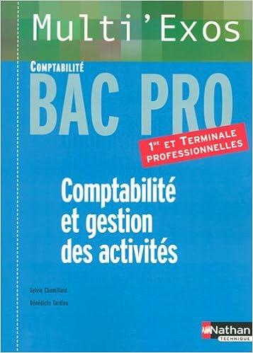 Téléchargement Comptabilité et gestion des activités : Bac Pro Comptabilité 1e et Tle professionnelles epub pdf