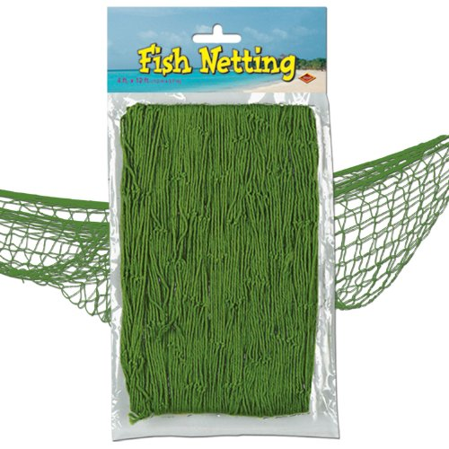 [Fish Netting (green) Party Accessory  (1 count) (1/Pkg)] (Fisherman Costume)