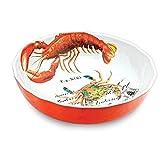 Michel Design Works Melamine Bistro Serving Bowl, 12' x 3.25', Lobster