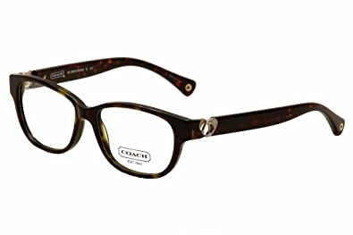 4eda768e794e Amazon.com: Coach Amara Eyeglasses HC6038 5001 Dark Tortoise Demo ...
