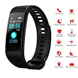 Autoday Fitness Tracker Waterproof Activity Tracker Calorie Counter,Pedometer,Heart Rate Monitor,Sleep Monitor,Reminder Replacement Strap Wristband Sports Band for iOS & Android (Black)