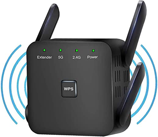 5GHz /& 2.4GHz Wifi Range Extender Dual Band WIFI Extender Booster WiFi Extender 1200Mbps Wifi Booster Wifi Booster Range Extender with 2 Ethernet Port 4 Antenna,Stable Network