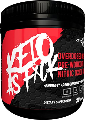 - Ketogenic Pre Workout Supplement | KETO AF| Nitric Oxide Preworkout Drink to Boost Strength, Energy & Endurance. Creatine + BHB Ketones + MCT. Naturally Sweetened & Flavored - Fruit Punch, 20 Servings