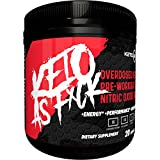 Ketogenic Pre Workout Supplement | KETO AF| Nitric Oxide Preworkout Drink to Boost Strength, Energy & Endurance. Creatine + BHB Ketones + MCT. Naturally Sweetened & Flavored - Fruit Punch, 20 Servings