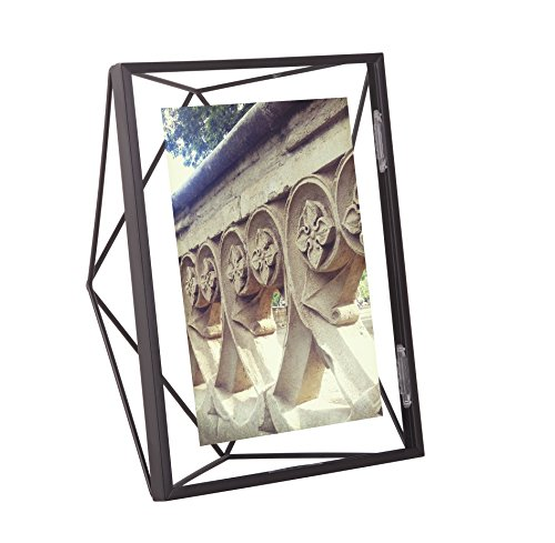 Umbra Prisma 5 x 7 Picture Frame – Floating Wall or Desk Photo Display for Pictures, Art, Illustrations, Graphic Text & More, Metal, ()