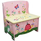 Fantasy Fields – Magic Garden Thematic Kids Storage Bench  | Imagination Inspiring Hand Crafted & Hand Painted Details | Non-Toxic, Lead Free Water-based Paint