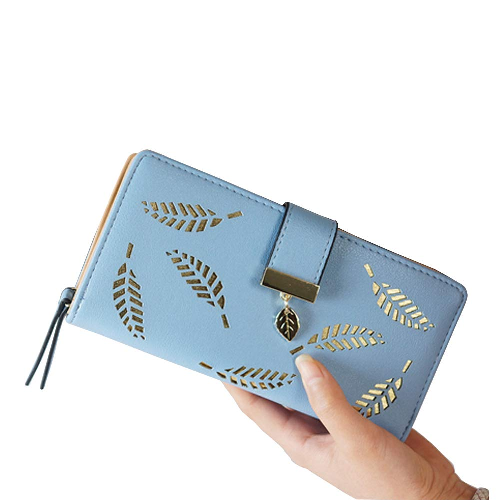 LEBOLONG Womens Wallets Long Leather Card Holder Purse Clutch Wallets