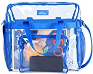 Clear Bag Stadium Approved, Transparent See Through Clear Tote Bag for Work, Sports Games-12 x12 x6