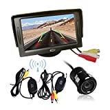 Wireless Car Vehicle Rear View Kit Reversing Parking Backup Camera 170° Waterproof + 4.3'' TFT LCD Monitor Parking Assistant System