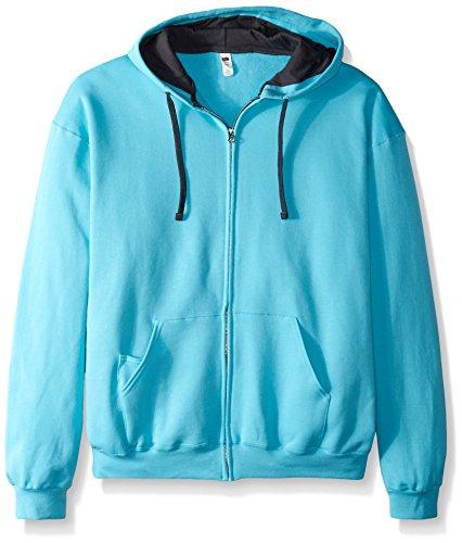 Fruit of the Loom Men's Full-Zip Hooded Sweatshirt, Scuba Blue, XX-Large ()