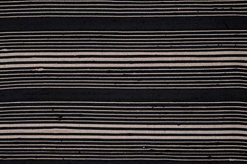 Black Gold Black Gold Striped Silk Shantung 60 Fabric