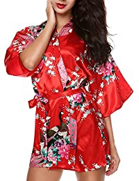 Peacock Satin Kimono Robe Bridesmaid Robes/ Wedding Robe/ Bride Robe Sleepwear
