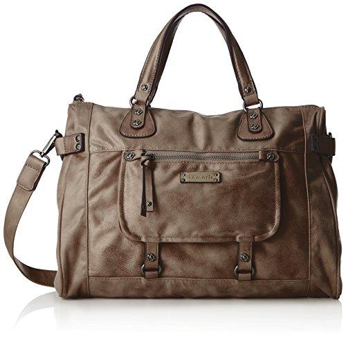 Tamaris Ulla Bowling Bag - Bolsos maletín Mujer Gris (Light Grey)
