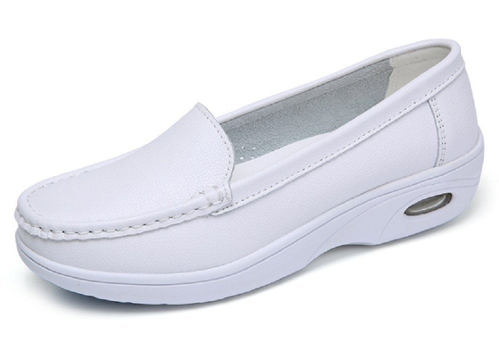 Orient Tree Women's Professional Lightweight Nurse Shoes Work Shoes White US 9