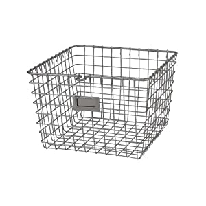 Spectrum Diversified Wire Storage Basket, Medium, Satin Nickel