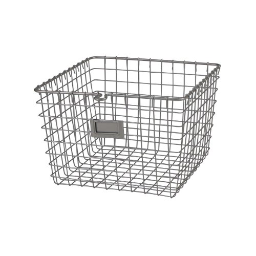 Spectrum Diversified Wire Storage Basket, Medium, Satin Nickel