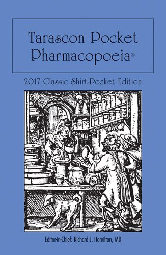 1284118991 - Tarascon Pocket Pharmacopoeia 2017 Classic Shirt-Pocket Edition