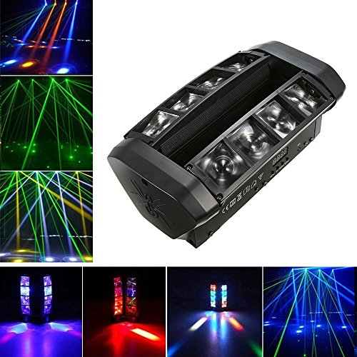 Docooler 50W Moving Head Light Auto Rotating DMX512 5/13 Channels Sound Control RGB Color Changing GOBO Pattern LED for Disco KTV Club Party (L2249US) ()