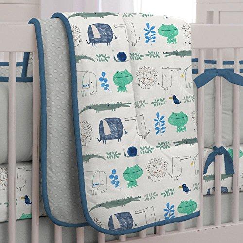 Carousel Designs Safari Friends Crib Comforter
