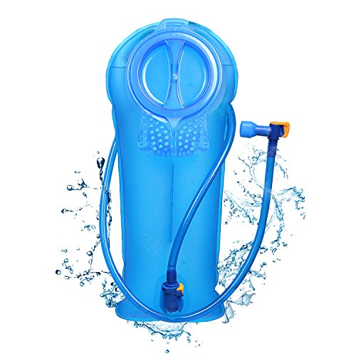 - Unigear Hydration Water Bladder Reservoir BPA Free FDA Approved and Taste Free for Backpacking, Biking, Hiking and Camping (Blue, 2L)