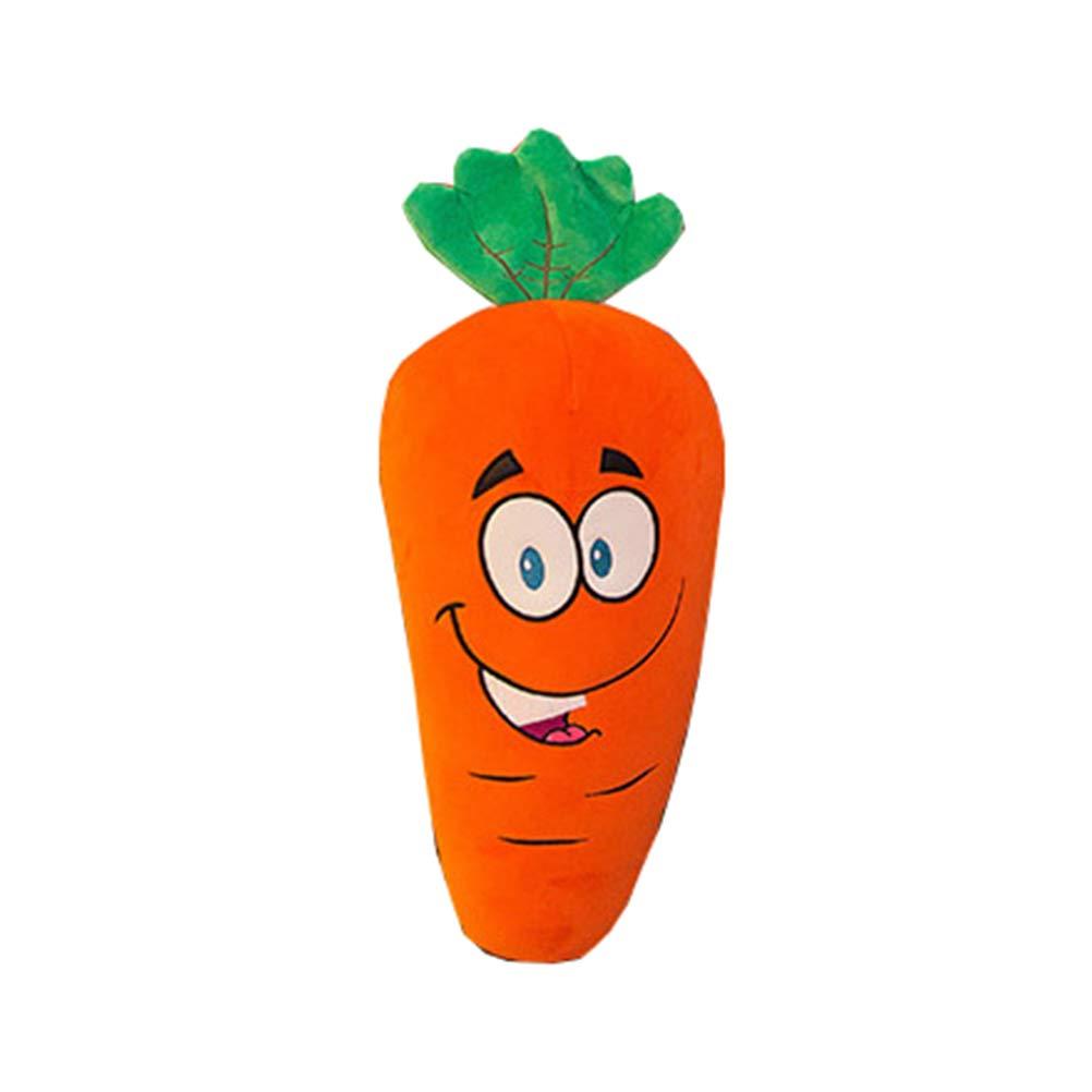 Apertura de Ojos Zanahoria Amosfun Almohadas de Zanahoria de Peluche de 25 cm Rellenos de Verduras Juguetes Regalo de Pascua para ni/ños Ni/ños