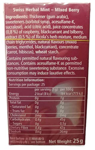 Ricola Herbal Sugar Free Mixed Berry Mints, 0.88-ounce Boxes (Pack of 12)-sold by Pro.S.Market