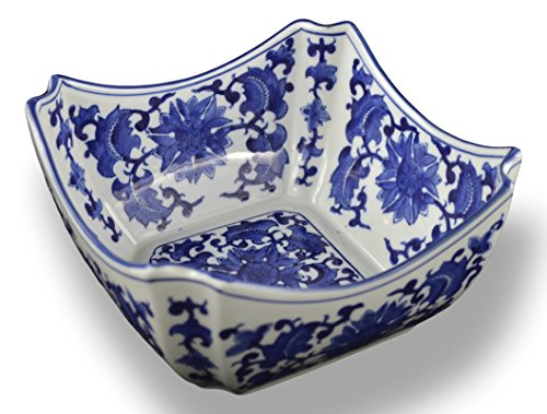 Blue and White Square Octagon Serving Bowls, Salad Bowls, Fruit Bowls (9