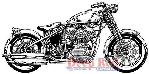 ShopForAllYou Stamping & Embossing Rubber Stamp Hardtail Motorcycle Chopper Bike Image