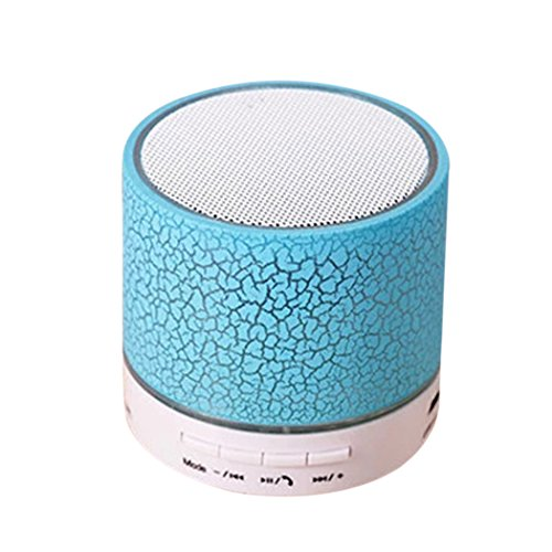 Mickee LED Portable Mini Wireless Bluetooth Speakers with USB and TF Port