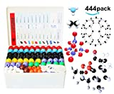 Chemistry Molecular Model Kit (440 Pieces), Student or Teacher Set for Organic and Inorganic Chemistry Learning, Motivate Enthusiasm for Learning and Raising Space Imagination, A Fullerene Set (MM-444)