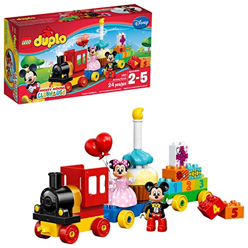 LEGO DUPLO l Disney Mickey Mouse Clubhouse Mickey & Minnie Birthday Parade 10597 Disney Toy (24 Pieces) (Mickey Toys Bath Mouse)