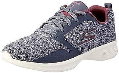 Skechers Australia GO Walk 4 - Desire Women's Walking Shoe, Charcoal/Burgundy, 5 US