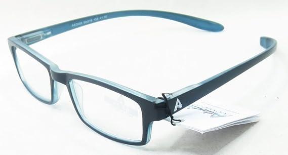 attraktive Mode beste Qualität achten Sie auf Atlantic Eyewear AE0039 Zwei Ton Blau Lesebrille mit lang Kunststoffbuegel  um den Hals Damen und Herren Inklusive softetui (+1.5)