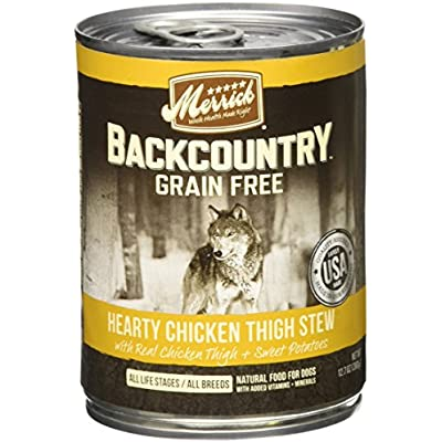 Merrick Backcountry - Hearty Chicken Thigh Stew - 12.7 Oz - 12 Ct