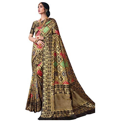 b0b94c030a Stylish Indian Ethnic Designer Evening Multicolor Black Party wear Saree  with Blouse piece Women Sari 7919