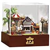 Tronet DIY Dollhouse Wooden 3D Carousel Joy Park SunnyVersion DIY Hut New Decoration Small Gift