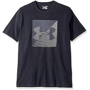 Under Armour Men's Linear Shift Short Sleeve Athletic Shirt, Black/White, X-Large