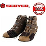 Orignal Scoyco With Hologram Sticker - Scoyco MBT006 Bike Riding Ankle ShoesBrown Size8