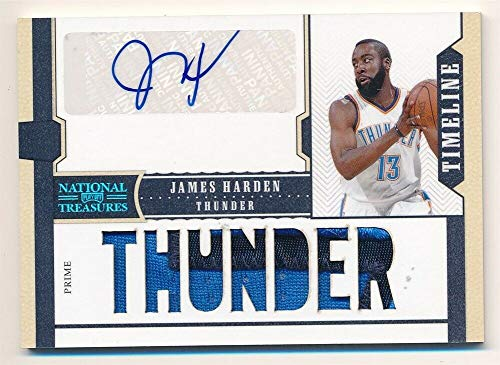 (BIGBOYD SPORTS CARDS James Harden 2010/11 National Treasures Timeline Autograph Patch AUTO SP #01/15 )