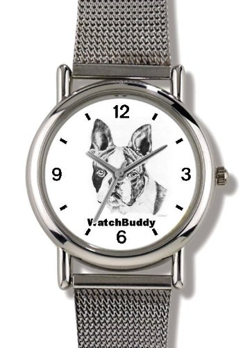 Boston Terrier (SC) Dog - WATCHBUDDY ELITE Chrome-Plated ...