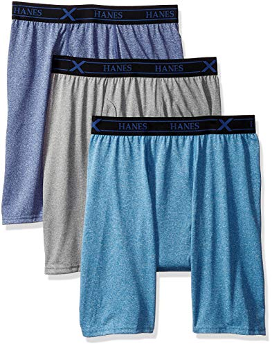 Hanes Ultimate Mens 3-Pack X-Temp Performance Long Leg Boxer Briefs